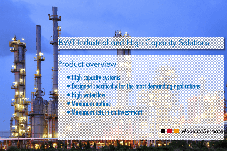 BWT Industrial and High Capacity Ozone Purification Systems